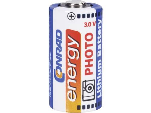 Conrad energy CR123A Fotobatterij Lithium 1300 mAh 3 V 1 stuks