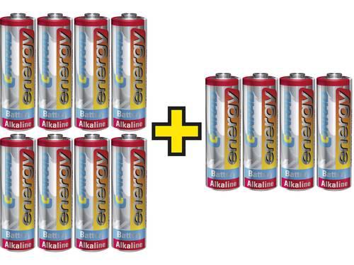 Voordeelset: 3x 4 st. Conrad energy Extreme Power alkaline penlite-batterijen voor de prijs van 2