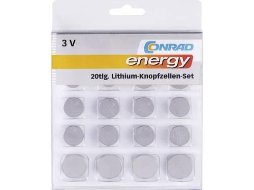 Conrad energy Knoopcelset 20 stuks