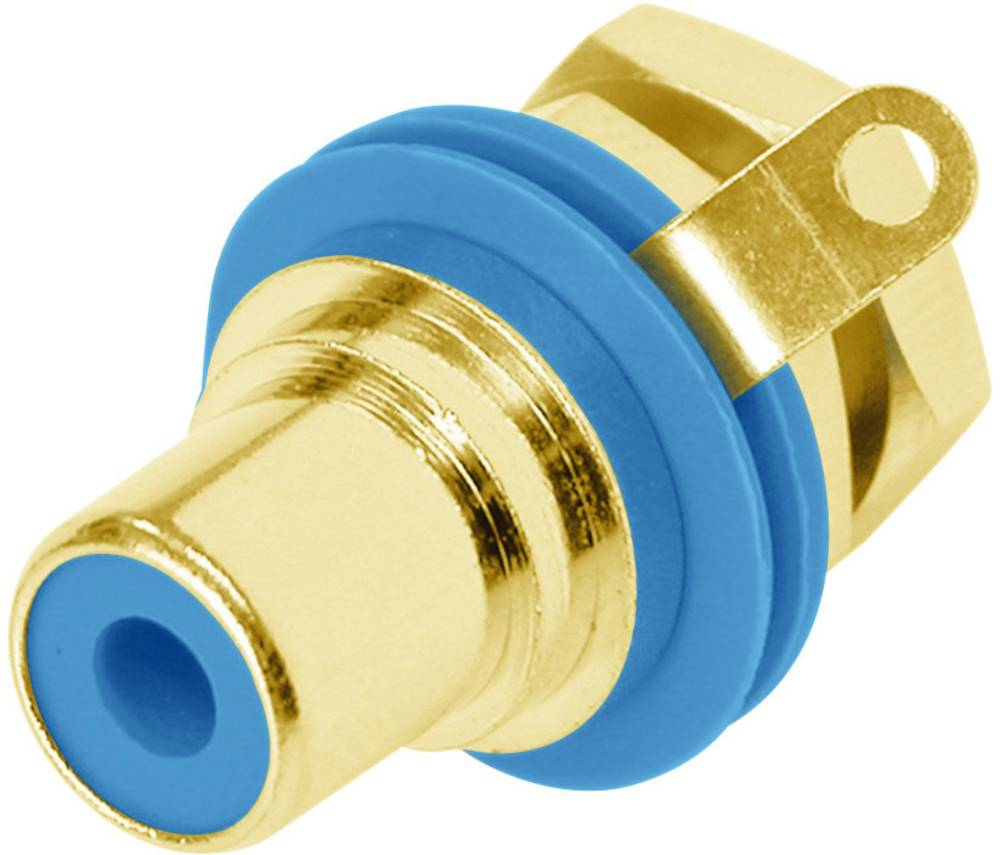 Činč-vtični konektor za vtičnico, vgradni vertikalen število polov: 2 modre barve Rean AV NYS367-6-CON 1 kos