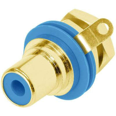 Image of Rean AV NYS367-6-CON RCA connector Socket, vertical vertical Number of pins: 2 Blue 1 pc(s)