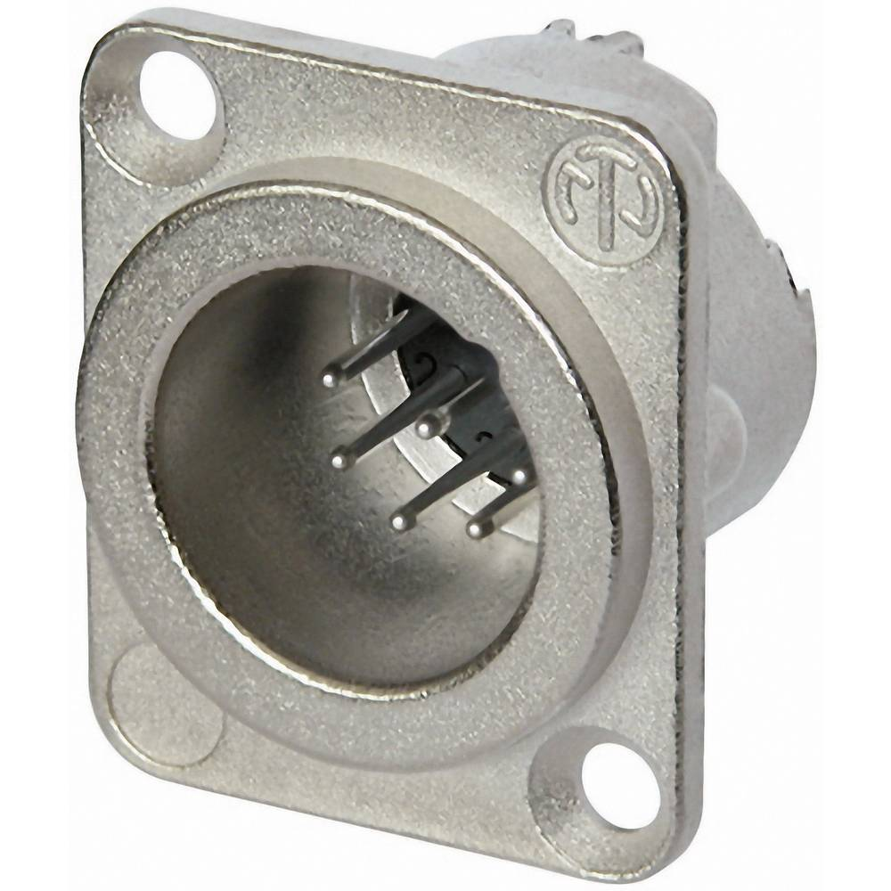 XLR-vtični konektor, prirobni vtič, ravni kontakti, število polov: 7 srebrne barve Neutrik NC7MD-LX 1 kos