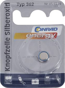 Knappcell 362 Silveroxid Conrad energy SR58 28 mAh 1.55 V 1 st