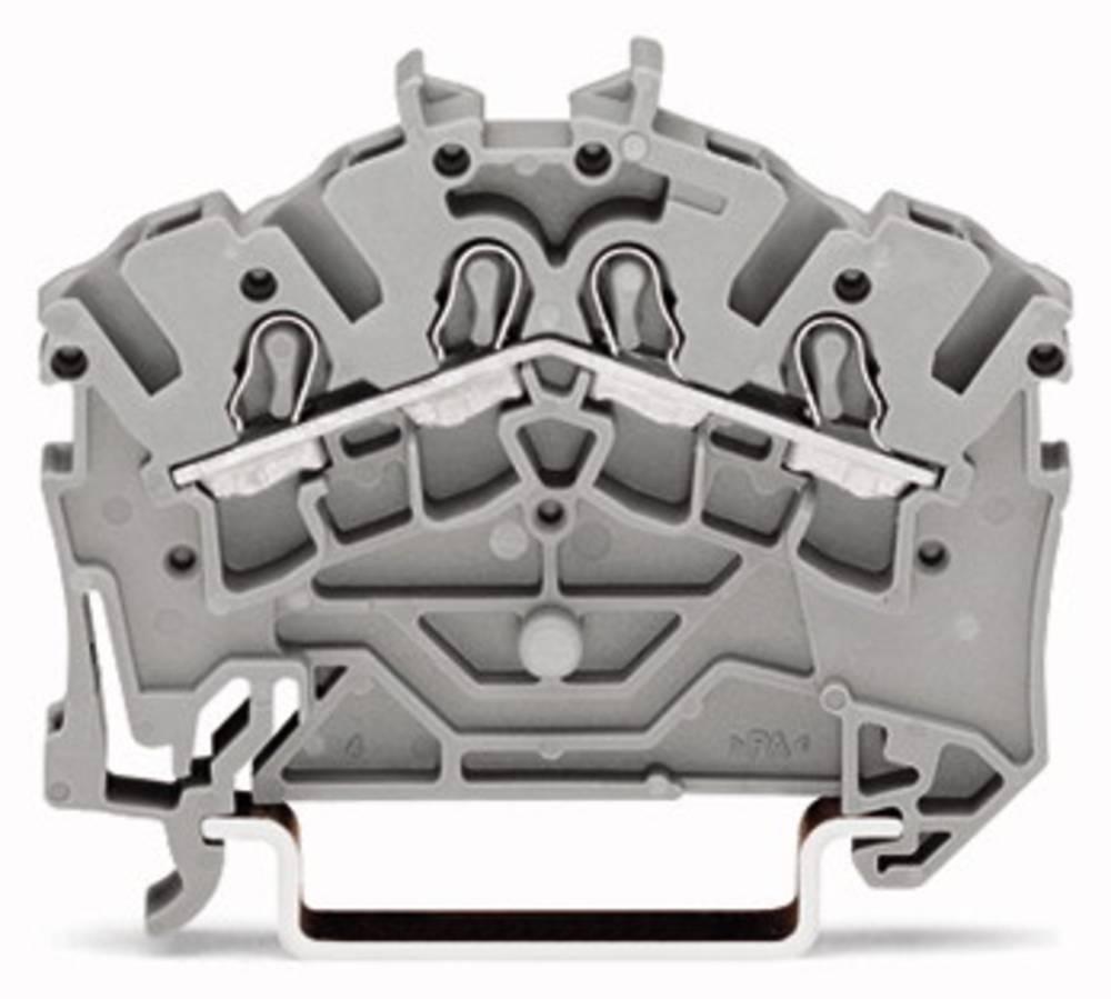 Gennemgangsklemme 5.20 mm Trækfjeder Sort WAGO 2002-6405 50 stk