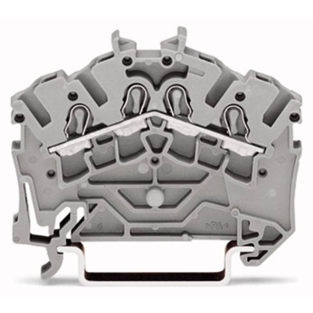 Gennemgangsklemme 5.20 mm Trækfjeder Gul WAGO 2002-6406 100 stk