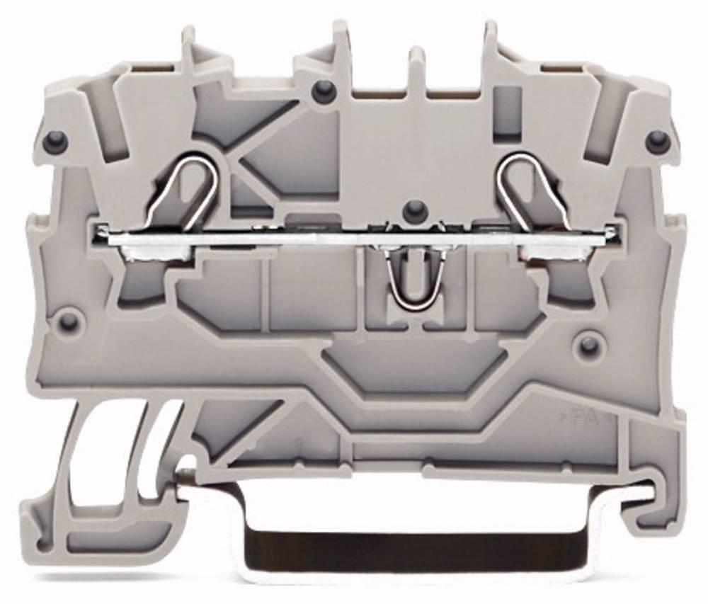 Gennemgangsklemme 3.50 mm Trækfjeder Sort WAGO 2000-1205 100 stk