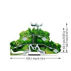 Dobbeltlags-beskyttelseslederklemme 5.20 mm Trækfjeder Belægning: Terre Grøn-gul WAGO 2002-2437 50 stk