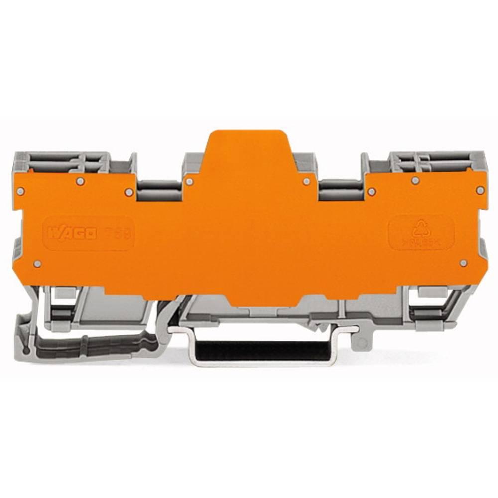 Basisklemmeblok 5 mm Trækfjeder Belægning: L Grå WAGO 769-164/769-313 5 stk