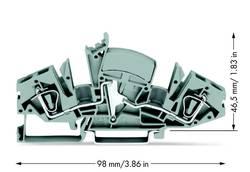 Gennemgangsklemme 8 mm Trækfjeder Belægning: L Grå WAGO 282-841/049-000 20 stk