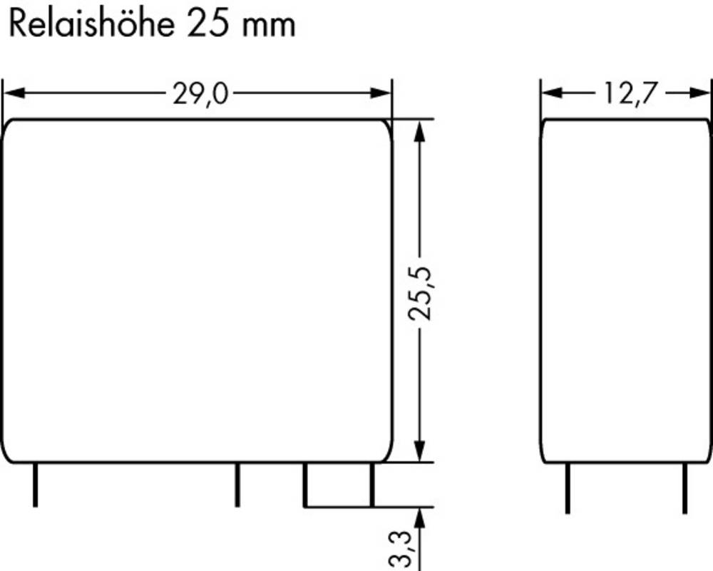 Printrelæ 12 V/DC 16 A 1 x skiftekontakt WAGO 788-182 20 stk