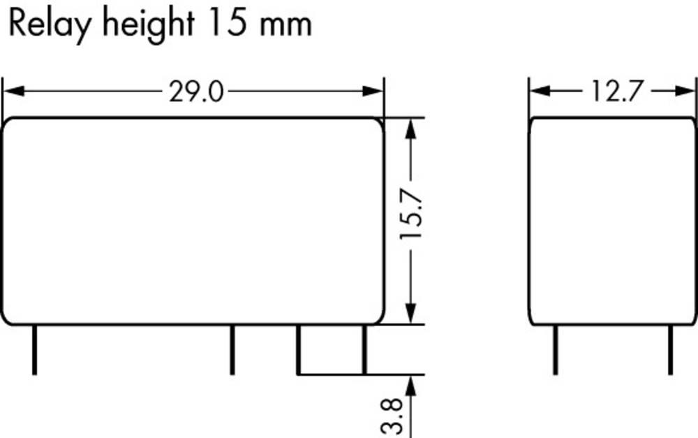 Rele za tiskana vezja 48 V/DC 8 A 2 x preklopni WAGO 788-160 20 kosov