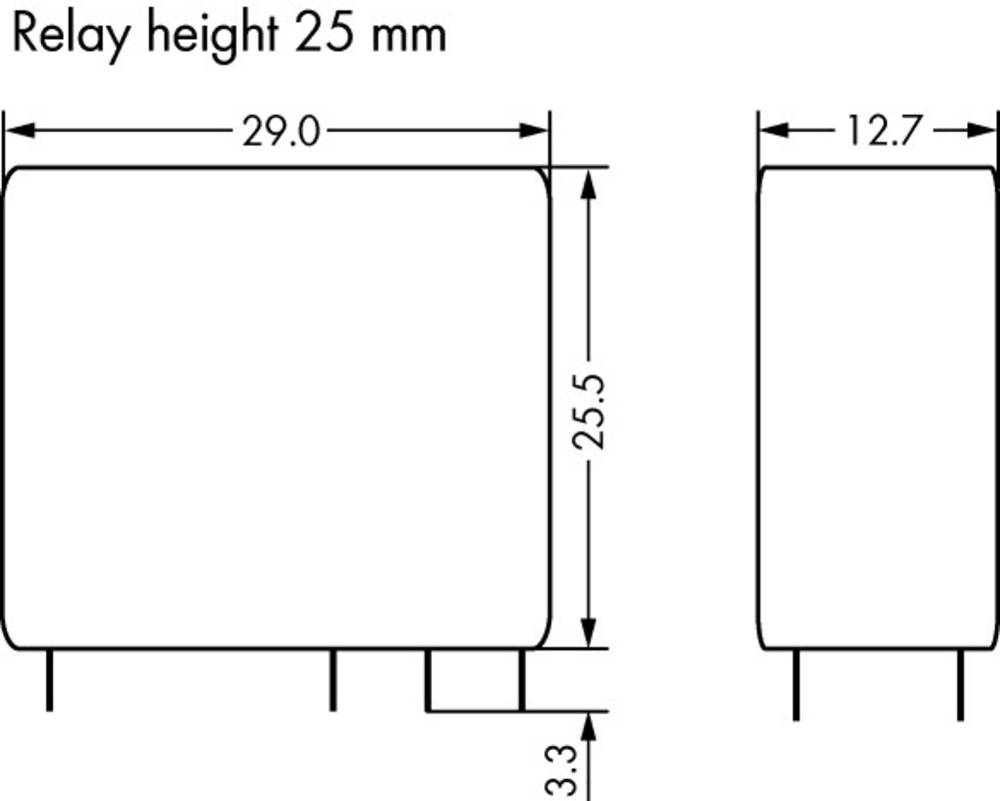 Rele za tiskana vezja 24 V/DC 16 A 1 x preklopni WAGO 788-184 20 kosov