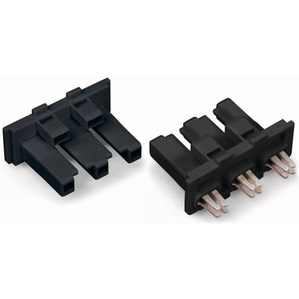 Strømstik Serie (netstik) WINSTA MIDI Tilslutning, lige Samlet poltal: 3 25 A Sort WAGO 100 stk