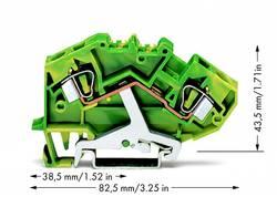 Jordklemme 8 mm Trækfjeder Belægning: Terre Grøn-gul WAGO 782-607 25 stk
