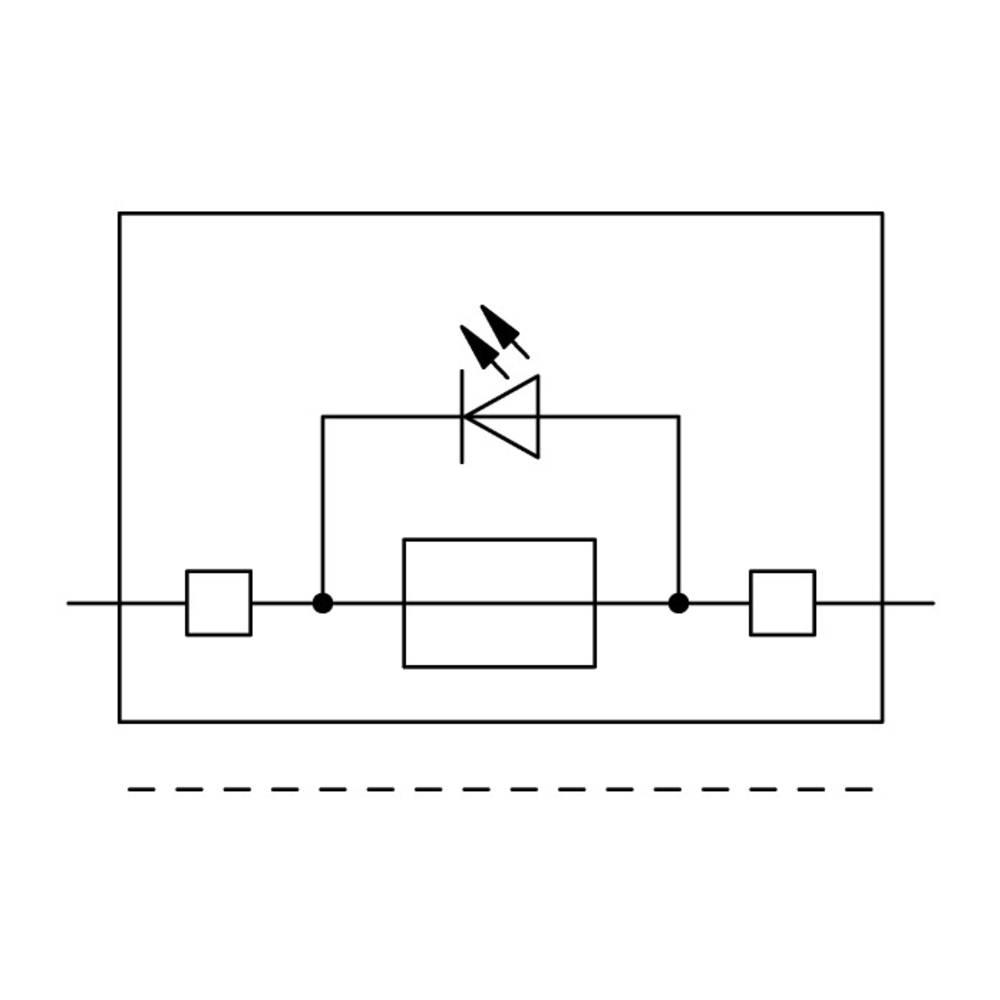 Sikringsklemme 7.50 mm Trækfjeder Grå WAGO 2006-1611/1000-542 25 stk