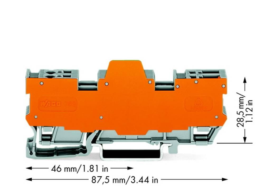 Basisklemmeblok 5 mm Trækfjeder Belægning: L Grå WAGO 769-182/769-314 10 stk