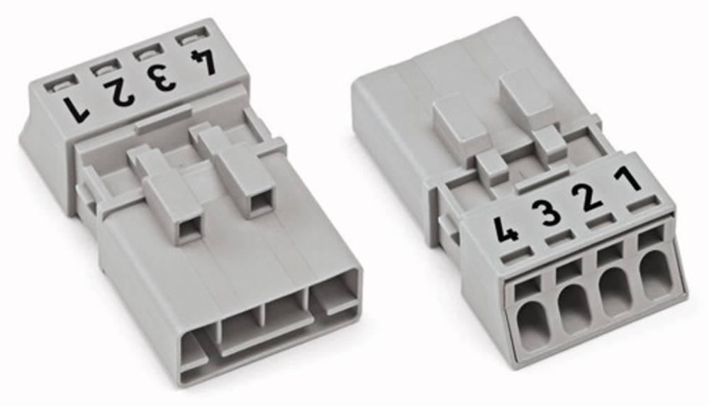 Strømstik Serie (netstik) WINSTA MINI Stik, lige Samlet poltal: 4 16 A Hvid WAGO 50 stk