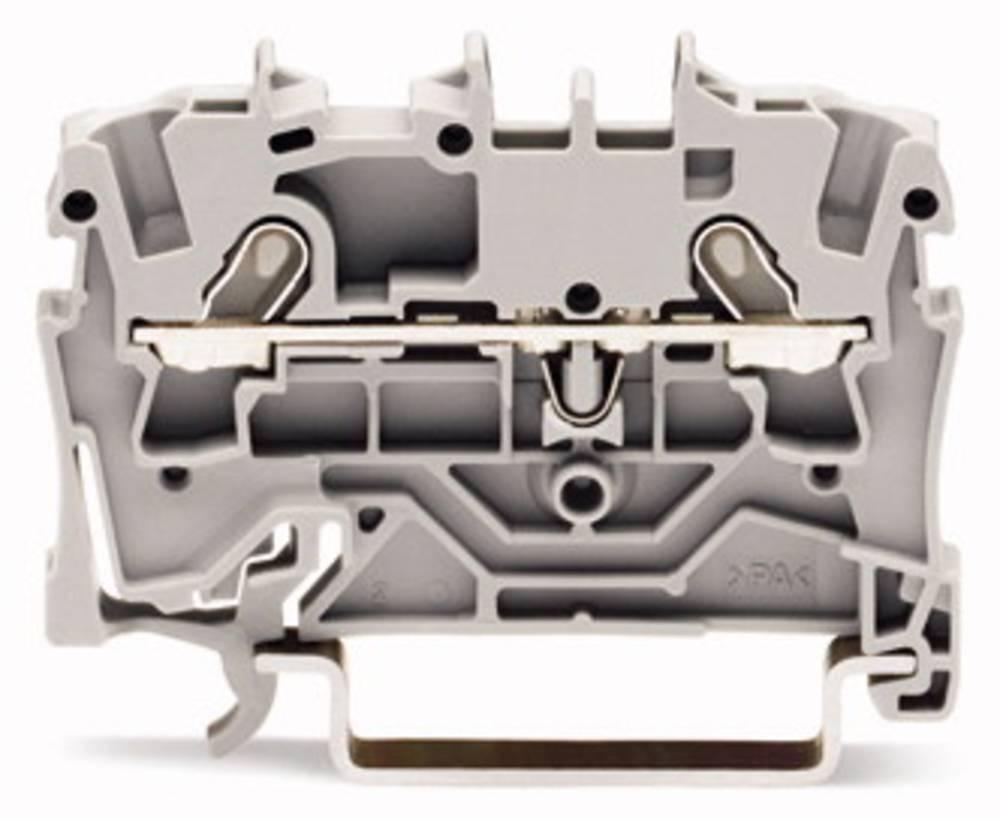 Gennemgangsklemme 4.20 mm Trækfjeder Sort WAGO 2001-1205 100 stk