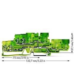 Dobbeltlags-beskyttelseslederklemme 5 mm Trækfjeder Belægning: Terre Grøn-gul WAGO 870-137 40 stk