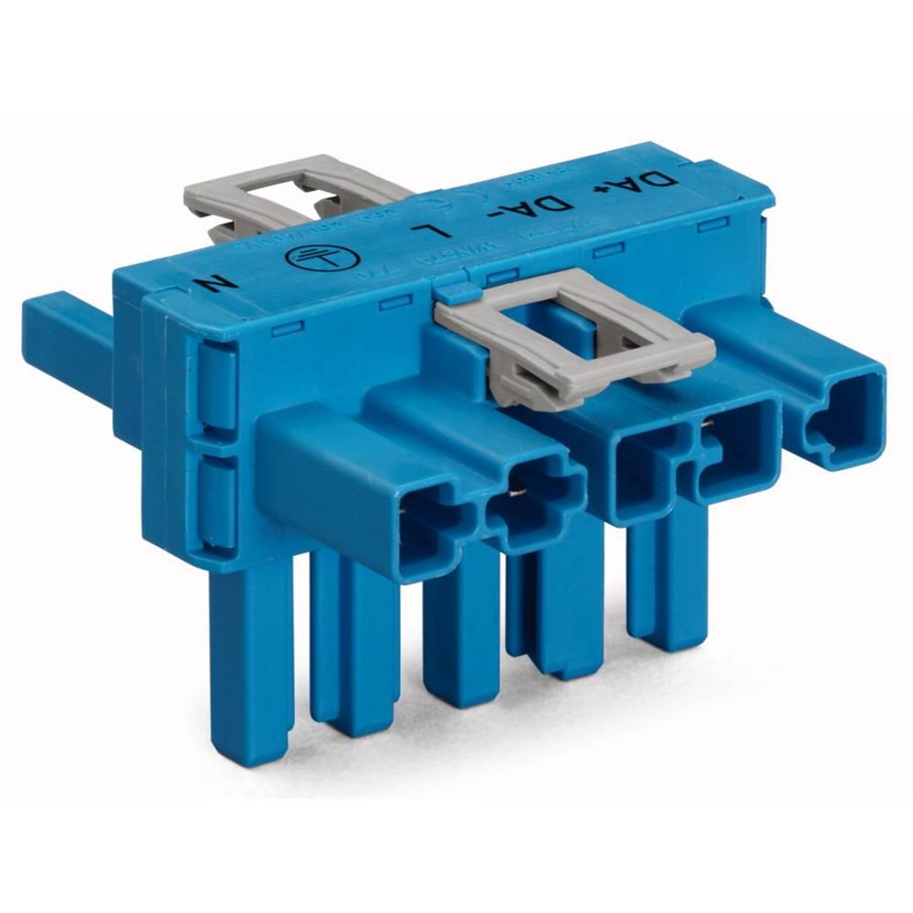 T-strømforsyningsfordeler WAGO Samlet poltal 5 Blå 50 stk