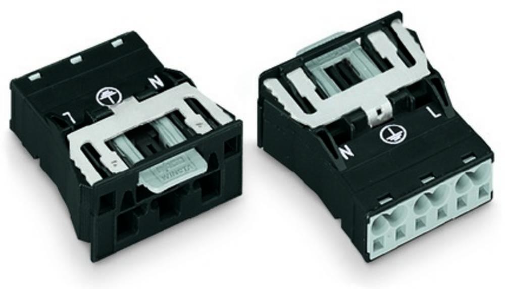 Strømstik Serie (netstik) WINSTA MIDI Stik, lige Samlet poltal: 2 + PE 25 A Hvid WAGO 100 stk