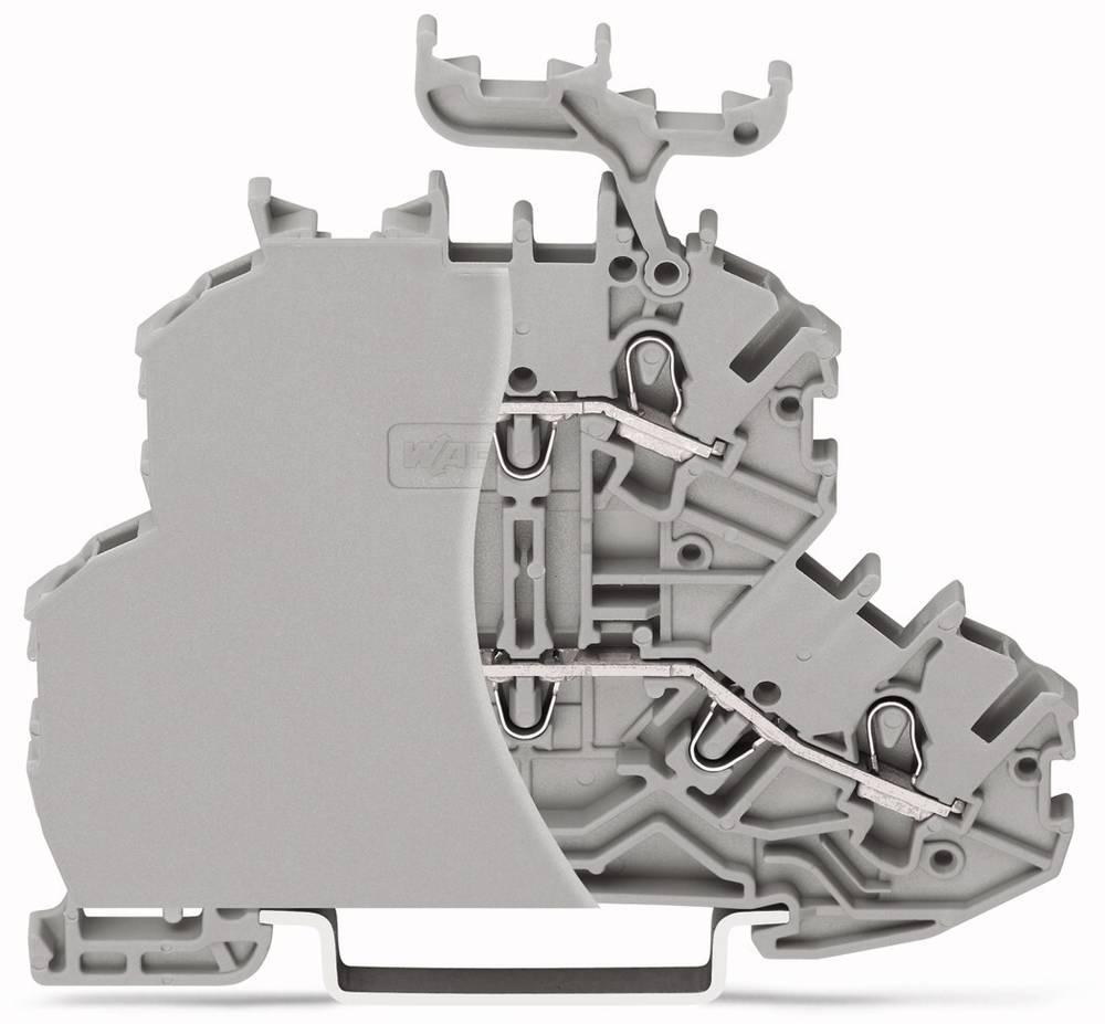 Dobbeltlags-gennemgangsklemme 4.20 mm Trækfjeder Belægning: L, L Grå WAGO 2000-2201/099-000 50 stk