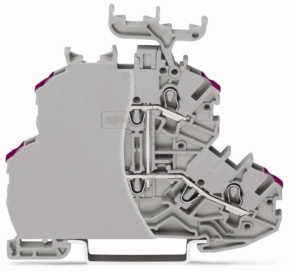 Dobbeltlags-gennemgangsklemme 4.20 mm Trækfjeder Belægning: L Grå WAGO 2000-2208/099-000 50 stk