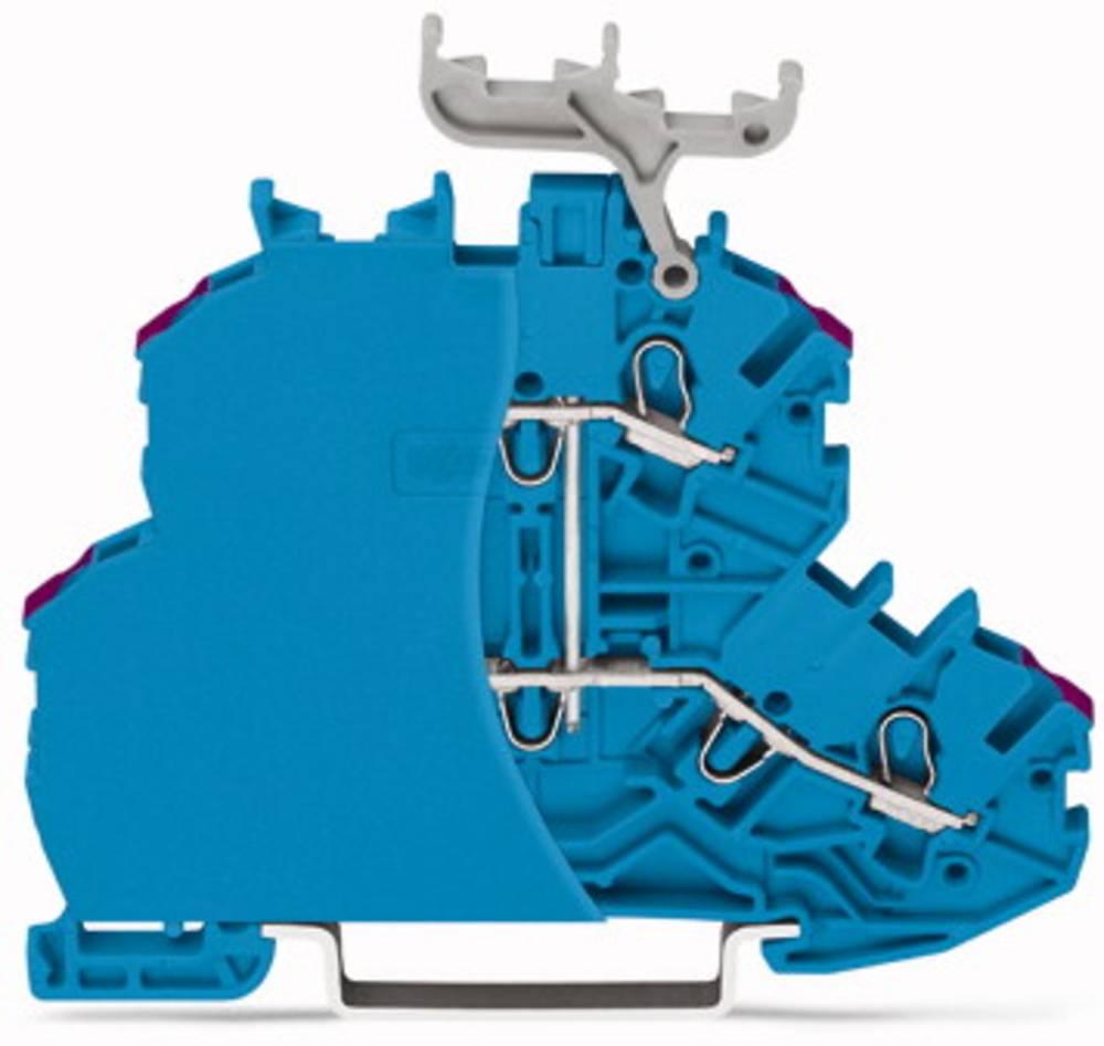 Dobbeltlags-gennemgangsklemme 4.20 mm Trækfjeder Belægning: N Blå WAGO 2000-2209/099-000 50 stk
