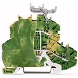 Dobbeltlags-beskyttelseslederklemme 4.20 mm Trækfjeder Belægning: Terre Grøn-gul WAGO 2000-2207/099-000 50 stk