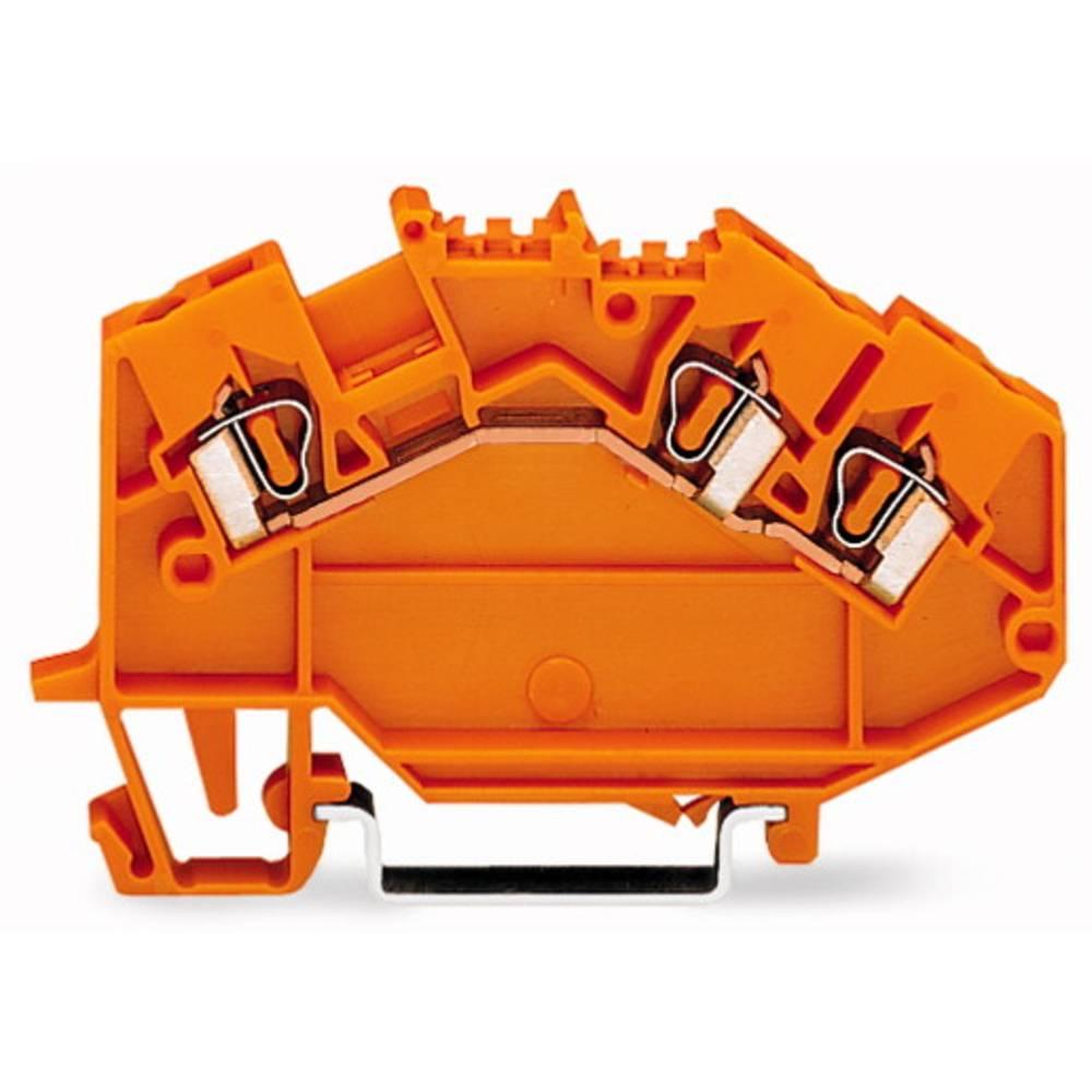 Gennemgangsklemme 5 mm Trækfjeder Orange WAGO 780-654 50 stk