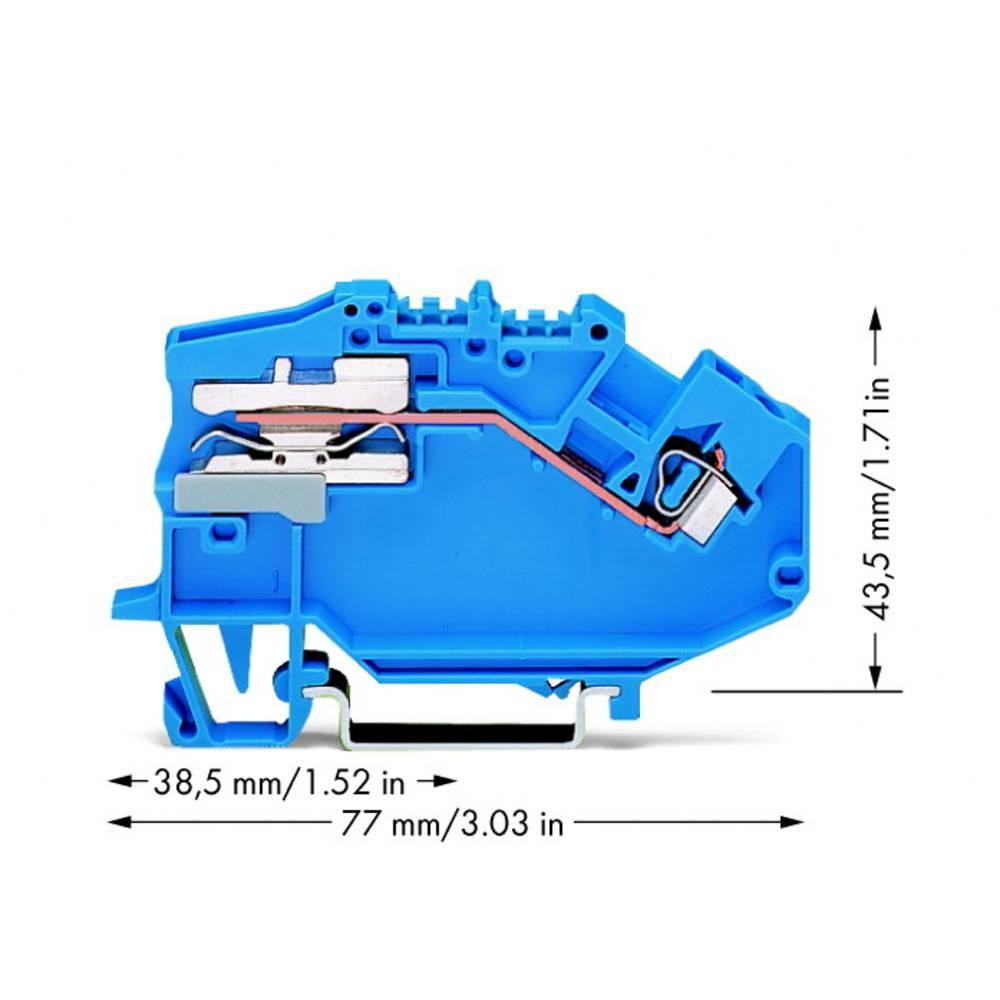 Skilleklemme 5 mm Trækfjeder Belægning: N Blå WAGO 780-613 50 stk