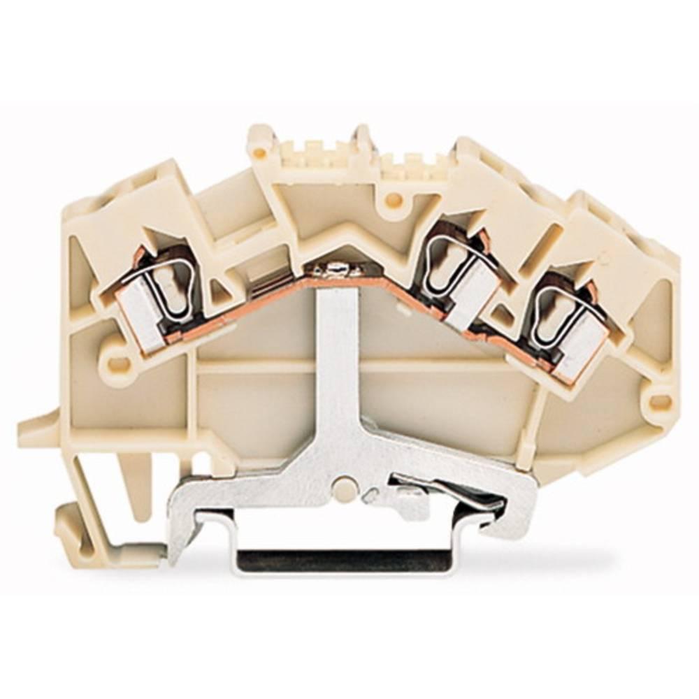 Skærmklemme 5 mm Trækfjeder Hvid WAGO 780-640 50 stk