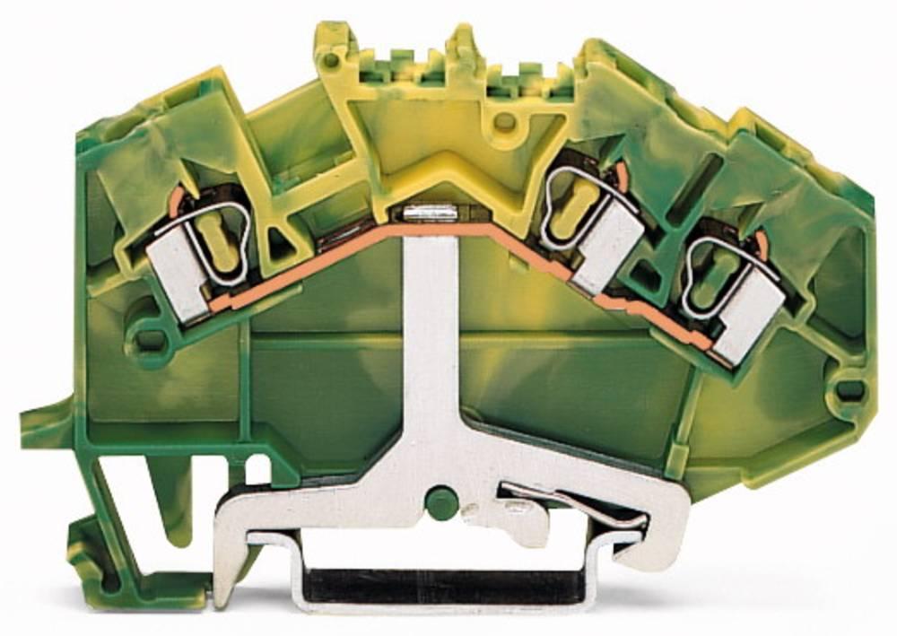 Jordklemme 5 mm Trækfjeder Belægning: Terre Grøn-gul WAGO 780-637/999-950 50 stk