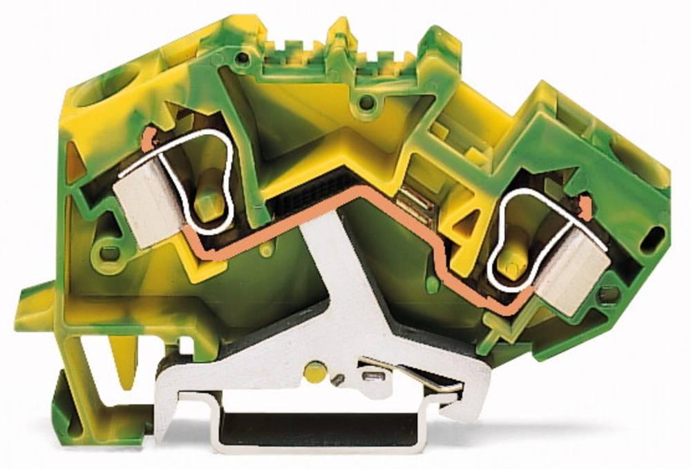 Jordklemme 10 mm Trækfjeder Belægning: Terre Grøn-gul WAGO 784-607/999-950 25 stk