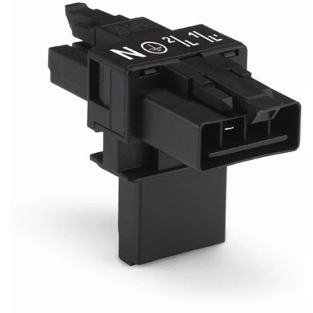 T-strømforsyningsfordeler WAGO Samlet poltal 4 Sort 25 stk