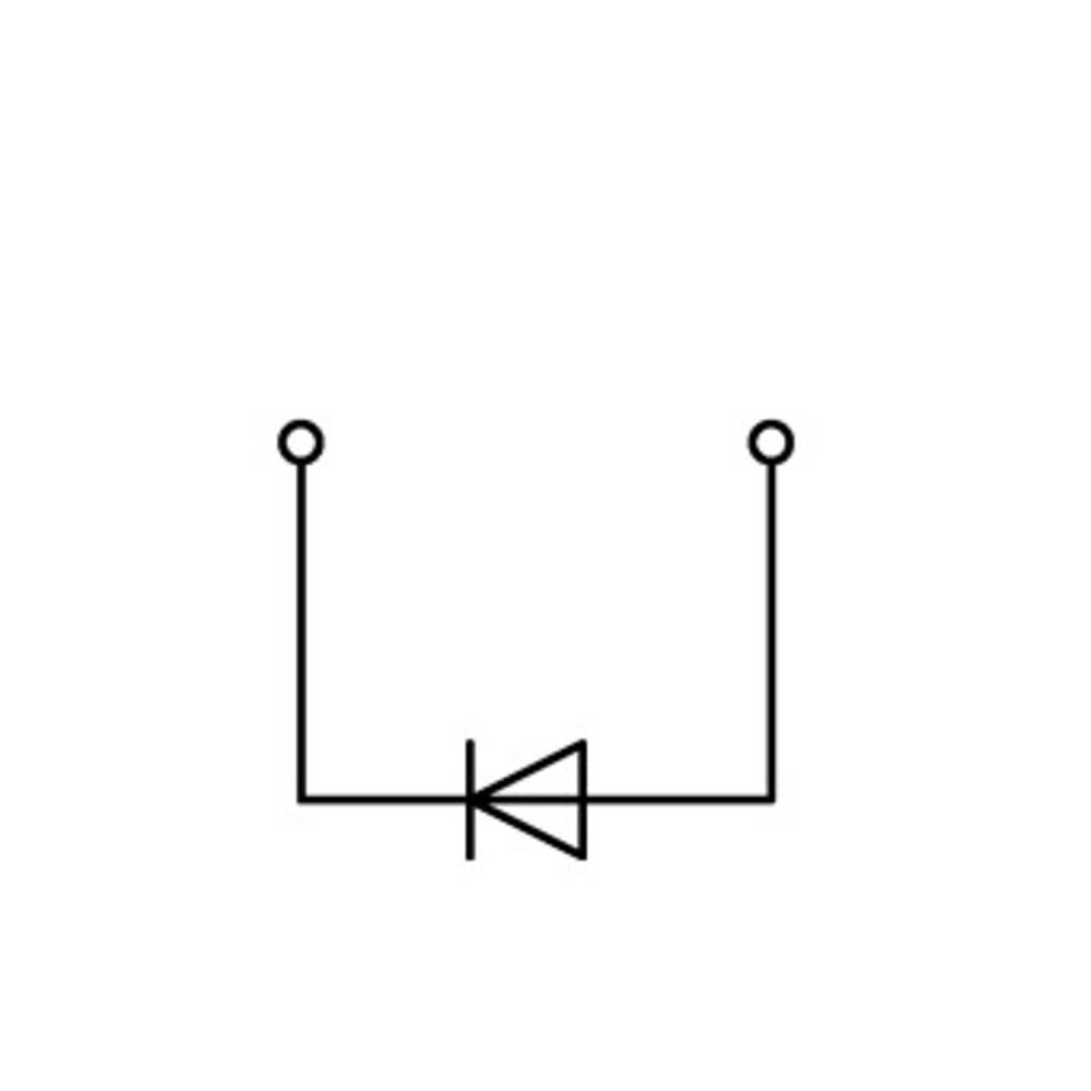 Diodeklemme 5 mm Trækfjeder Grå WAGO 769-218/281-411 50 stk