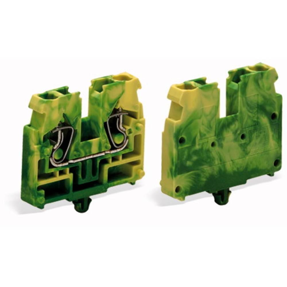 Gennemgangsklemme Fjederklemme Grøn-gul WAGO 869-337 100 stk