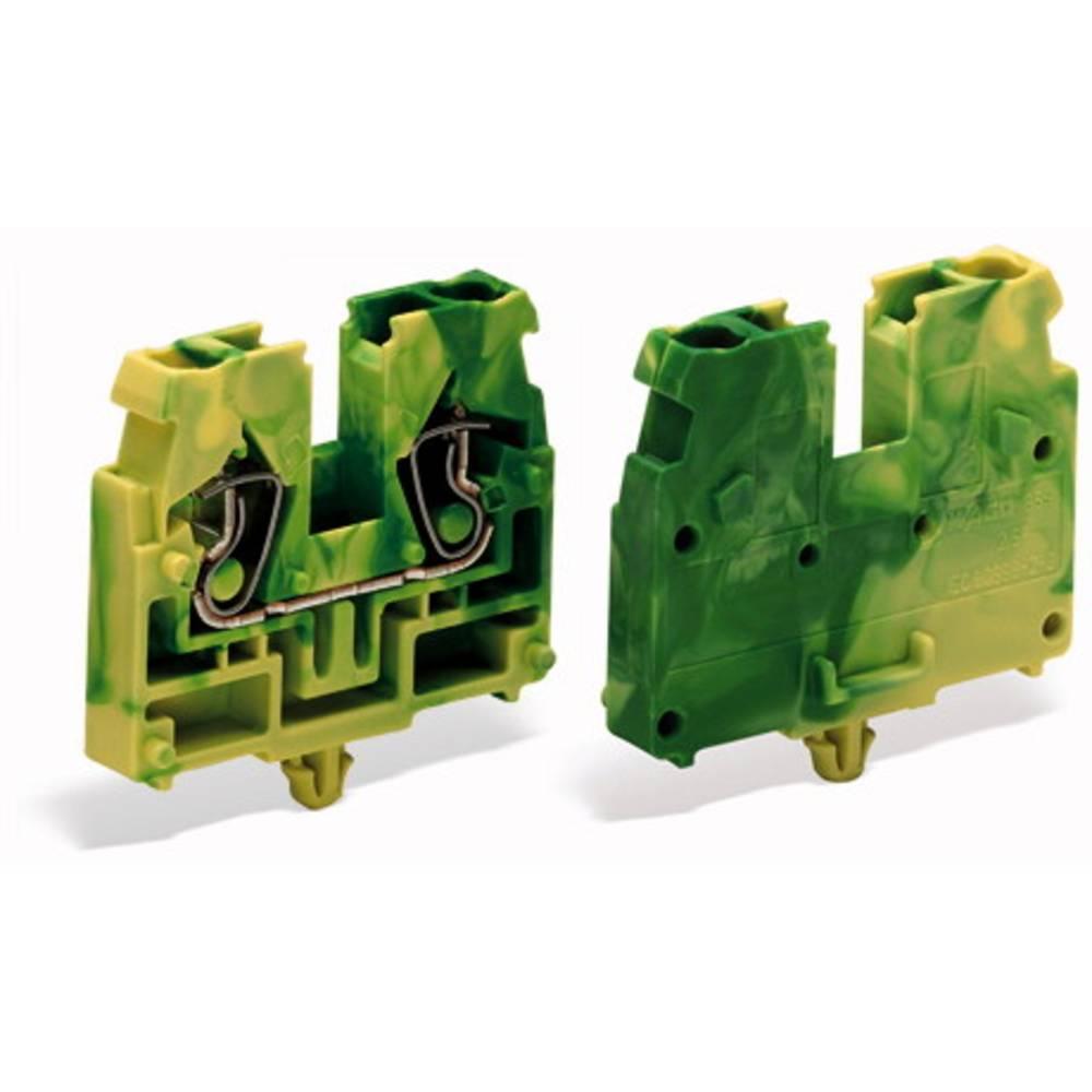 Gennemgangsklemme Fjederklemme Grøn-gul WAGO 869-317 100 stk