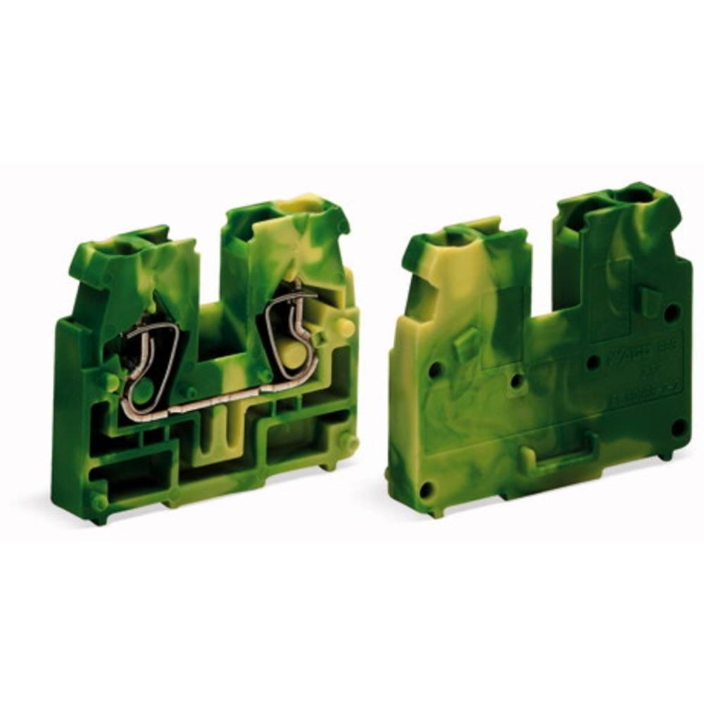 Gennemgangsklemme Fjederklemme Grøn-gul WAGO 869-327 100 stk