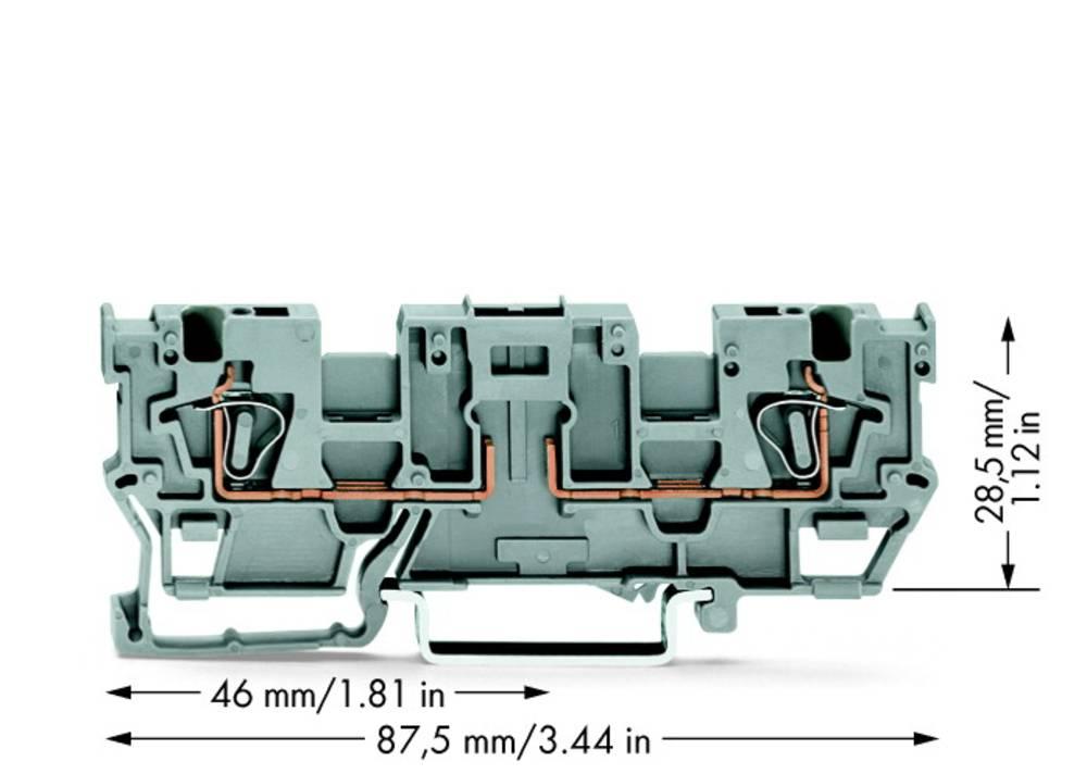 Basisklemme 5 mm Trækfjeder Belægning: L Grå WAGO 769-191 50 stk
