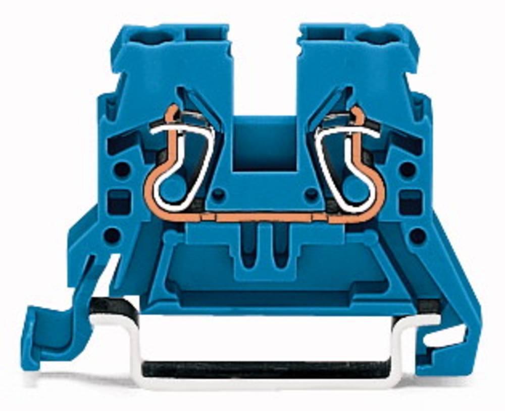 Gennemgangsklemme 5 mm Trækfjeder Belægning: N Blå WAGO 870-904 100 stk
