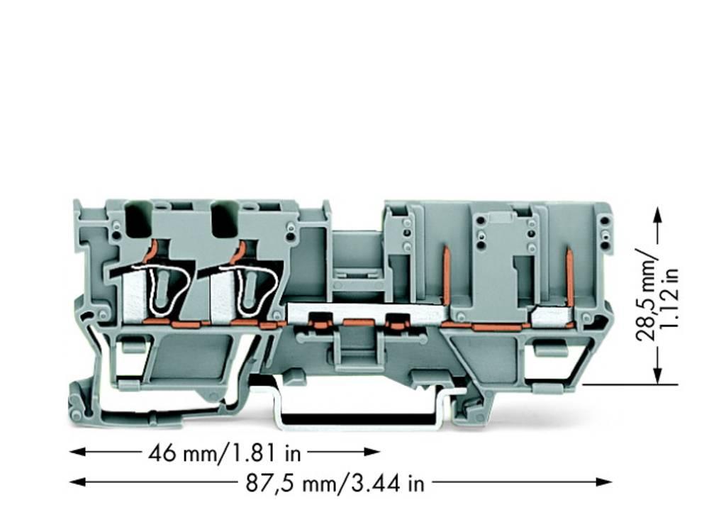 Basisklemme 5 mm Trækfjeder Belægning: L Grå WAGO 769-171 50 stk