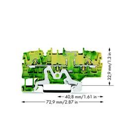 Dobbeltlags-beskyttelseslederklemme 5.20 mm Trækfjeder Belægning: Terre Grøn-gul WAGO 2002-1907 50 stk
