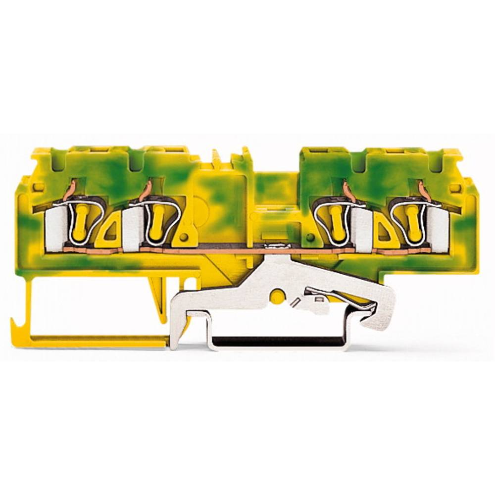 Jordklemme 5 mm Trækfjeder Belægning: Terre Grøn-gul WAGO 880-837/999-940 50 stk