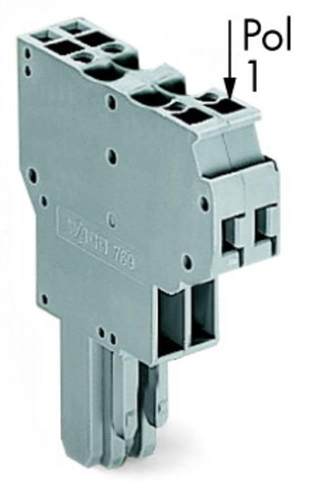 Multistikfatning 5 mm Trækfjeder Belægning: L Grå WAGO 769-124 25 stk