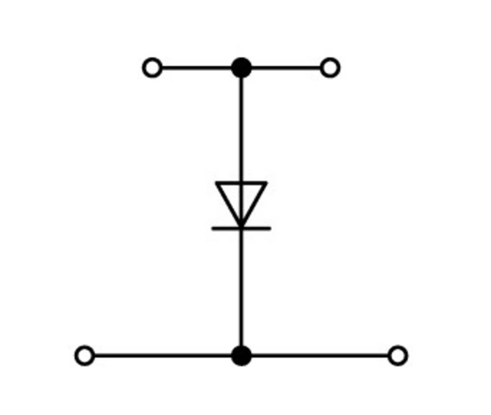 Dobbeltlags diodeklemme 5 mm Trækfjeder Belægning: L Grå WAGO 870-540/281-411 50 stk