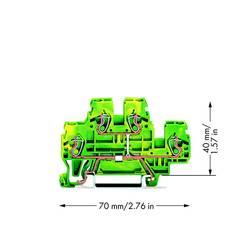 Dobbeltlags-beskyttelseslederklemme 5 mm Trækfjeder Belægning: Terre Grøn-gul WAGO 870-507 50 stk