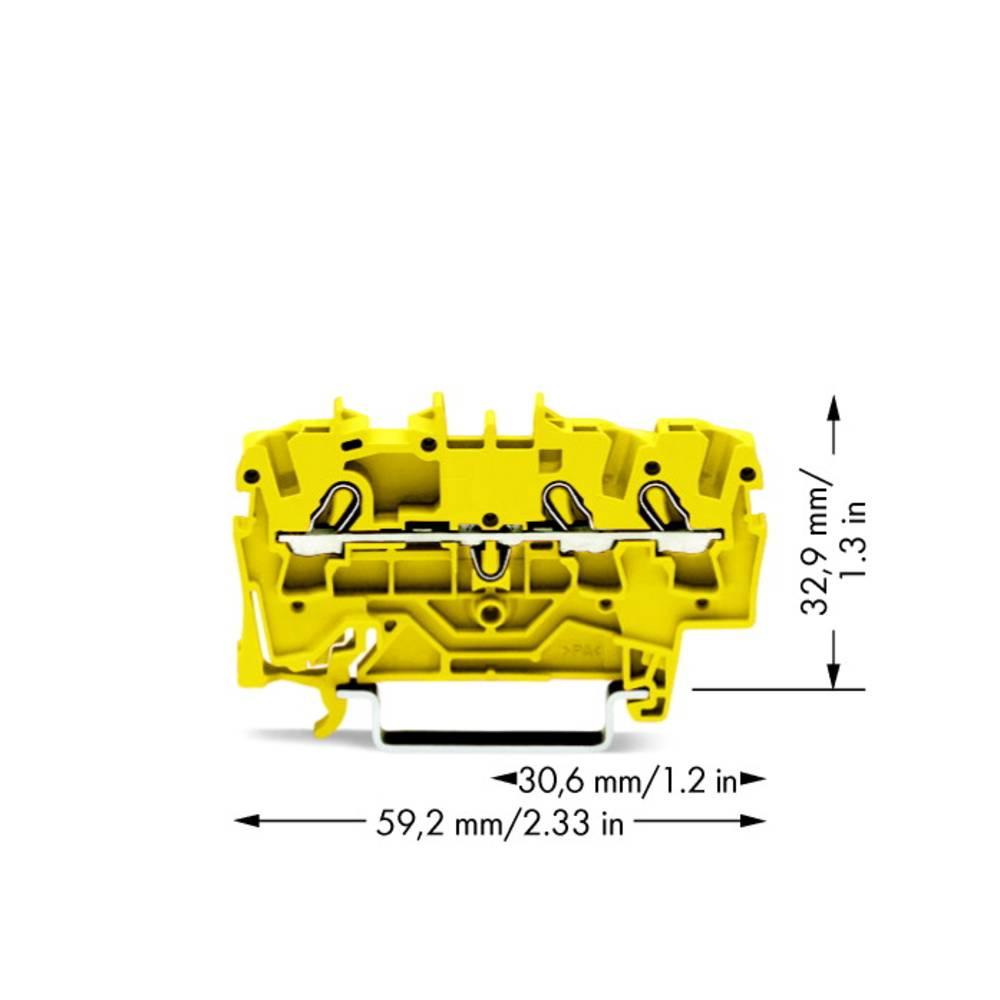 Gennemgangsklemme 5.20 mm Trækfjeder Gul WAGO 2002-1306 100 stk