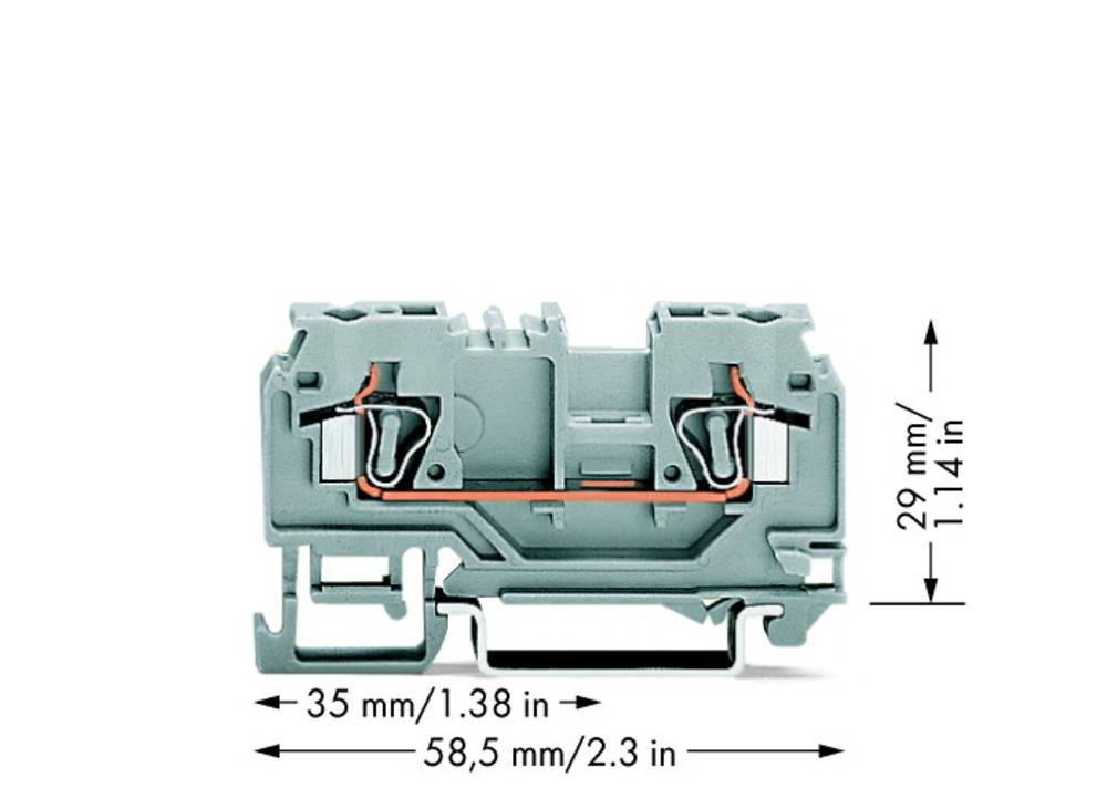 Gennemgangsklemme 5 mm Trækfjeder Belægning: L Grå WAGO 880-901 100 stk