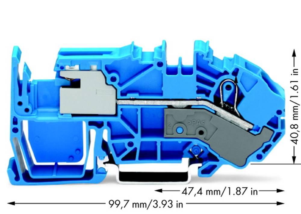 Skilleklemme 12 mm Trækfjeder Belægning: N Blå WAGO 2016-7714 20 stk